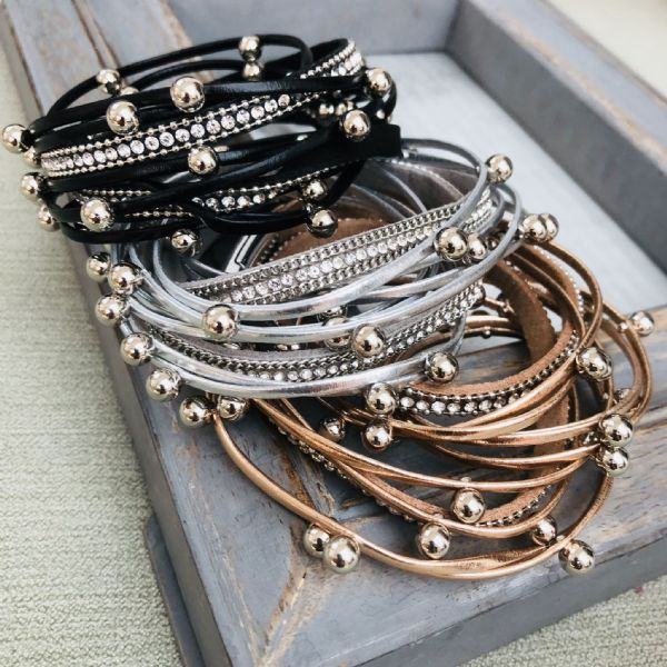 Gorgeous metallic wrap bracelet - various colours